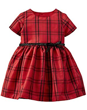 Red Plaid 2 Piece Dress Set Newborn