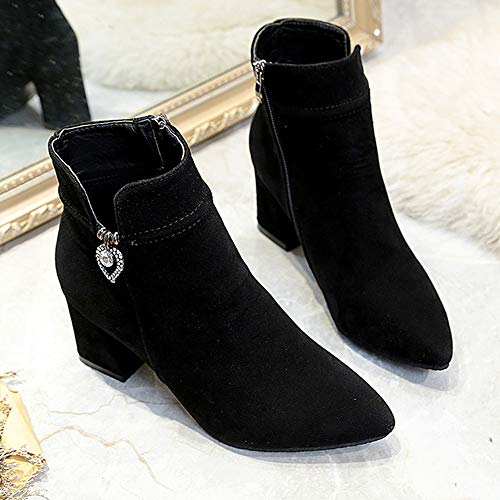 Glissire Avec Bottes Fermeture Bottines Talons Sport Chaussures Femmes Noir De Martin Alikeey 8qzavww