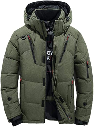 Men Winter Warm Skiing Ski Jacket Padded Thick Hooded Puffer Snow Coats Parka UK