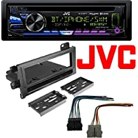JVC KD-RD98BTS 1-Din Car Bluetooth CD Receiver, USB/AUX/Pandora/iPhone/SiriusXM w/ Radio Dash Install Mounting Kit Harness Dodge Eagle Jeep Plymouth 1974-2001