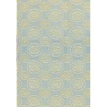 Mad Mats Molly Indoor/Outdoor Floor Mat, 4 by 6-Feet, Grey Yellow