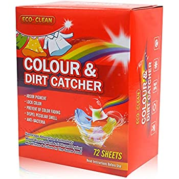 Color Catcher for Laundry, Dye Trapping Sheets 72 Count, Prevent Light Colored Clothes from Being Dyed