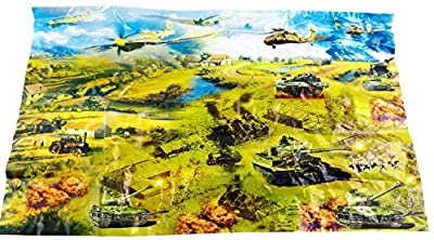 60 pieces Army Set Jets with Aircraft Carriers Missile Silo Tank