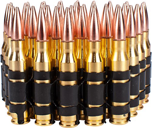 Evike - Mock M60 Linked Ammo Cartridge Belt (Fake Dummy Shell/Bullets) - Set of -
