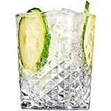 Carats Double Old Fashioned Glasses 12.3oz / 350ml - Set of 4 | Old Fashioned Tumblers, Cocktail Tumblers