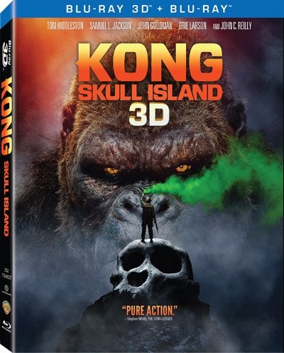 Kong  Skull Island 2D   3D  Region A Blu Ray   Hong Kong Version   Mandarin Dubbed  Chinese Subtitled