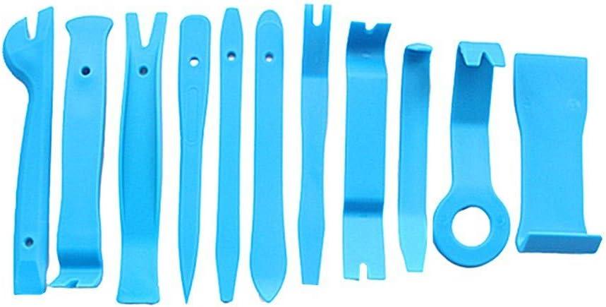 HEELPPO Desmontadores De Plastico para Coches Coche Kit De Herramienta Trim Herramientas De Eliminaci/ón Kit Herramientas Herramientas Herramientas Coche Blue+Red