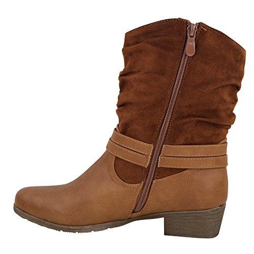 Damen Stiefel warm gefüttert Boots Stiefeletten ST3020