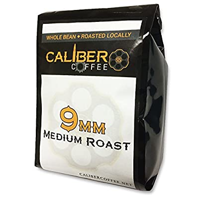 9MM Smooth Roasted Coffee Beans Strong on Flavor High in Caliber Caffeine Rich 4oz Sampler Bag