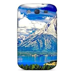 Saraumes Galaxy S3 Hybrid Tpu Case Cover Silicon Bumper Snow Mountain River