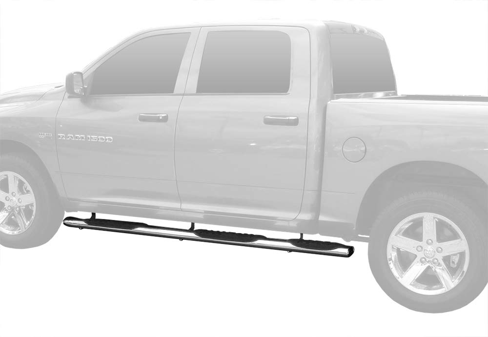 5inch Wheel W2W Stainless Steel Side Step Rails Nerf Bars Running Boards Not for Classic Tyger Auto TG-RS9D50207 Riser Compatible with 2019-2020 Dodge Ram 1500 Crew Cab 5.7 Short Bed