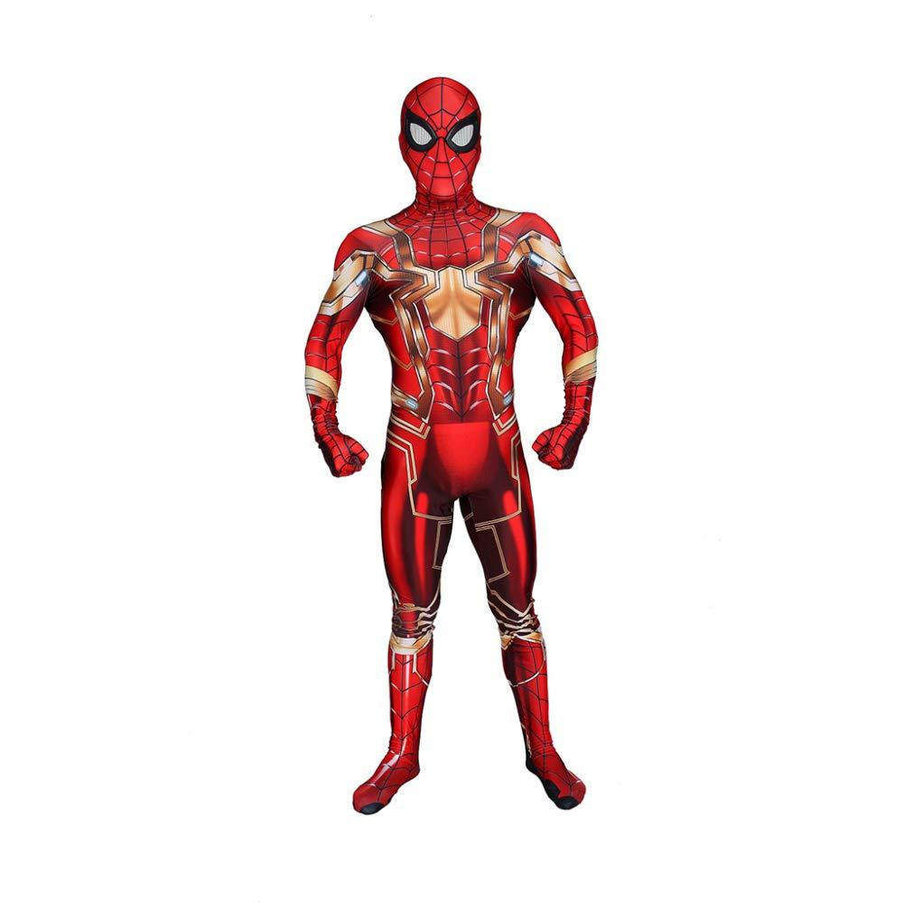 Women Large Spiderman Costume Halloween Spiderman Spiderman Adult Costume Spiderman Suit Spiderman Bodysuit Party Supplies Cosplay Masks Super Hero 3D Prin,WomenL