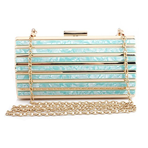 Bolso Evening de Clutch Azul Girl's noche acrílico de Bolso para mano Flada mujer Apricot bolso para de Fashion Clutch Marble WBP1qBazYw
