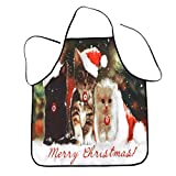 WOCACHI Christmas Womens Aprons Waterproof Snowman Snowflake Dog Reindeer Santa Claus Merry Christmas Letter New Year Cat Bib Gift Cooking Dinner Xmas Decoration Apron Clearance Sale Deals Winter