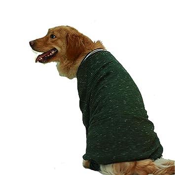 JHC Abrigo para Perros Abrigo De Algodón Golden Retriever Perro Grande Y Mediano Ropa Impermeable para Mascotas, Adecuada para El Busto 36-118cm (Azul, ...