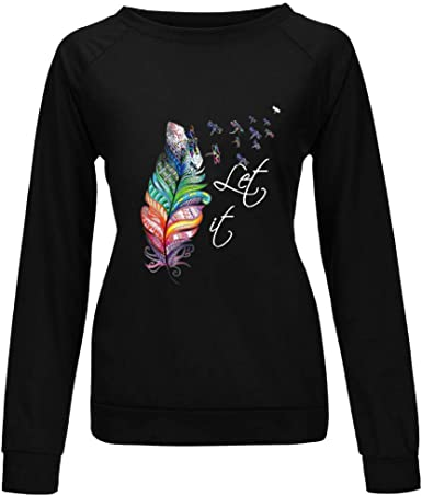 Hotkey Womens Sweatshirt Fawn Floral Printed Pullover Tops Long Sleeve Crewneck Casual Loose Jumper Blouse Shirts for Women
