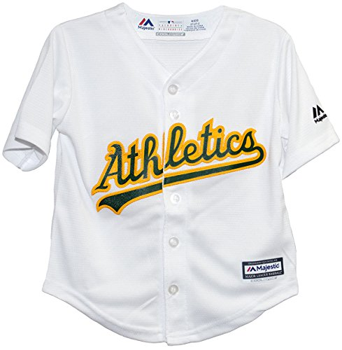 Majestic Oakland Athletics Home White Cool Base Toddler Jerseys (2T) - Majestic Sporting Goods