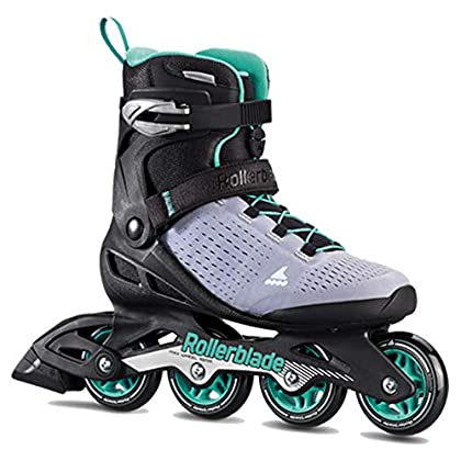 Image of Children's Inline Skates Rollerblade Zetrablade Elite Women's Adult Fitness Inline Skate, Black and Powder Blue, Performance Inline Skates