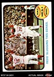 1973 Topps # 208 1972 World Series - Game #6 - Reds' Slugging Ties Series Johnny Bench / Denis Menke / Bobby Tolan Oakland / Cincinnati Athletics / Reds (Baseball Card) Dean's Cards 4 - VG/EX Athletics / Reds