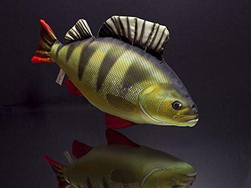Cuscino a forma di pesce persico da 50 cm da usare come cuscino per la testa e peluche