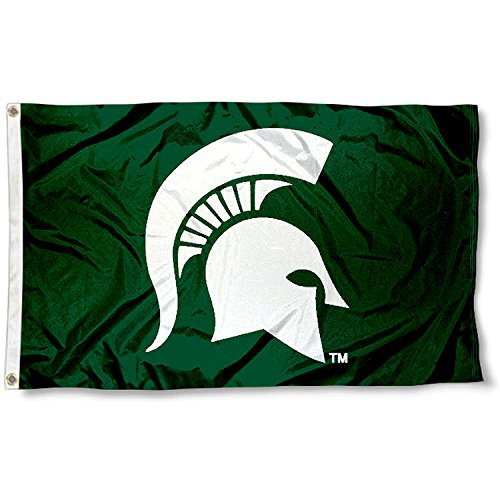 Michigan State Spartans Msu Sparty University Large College Flag