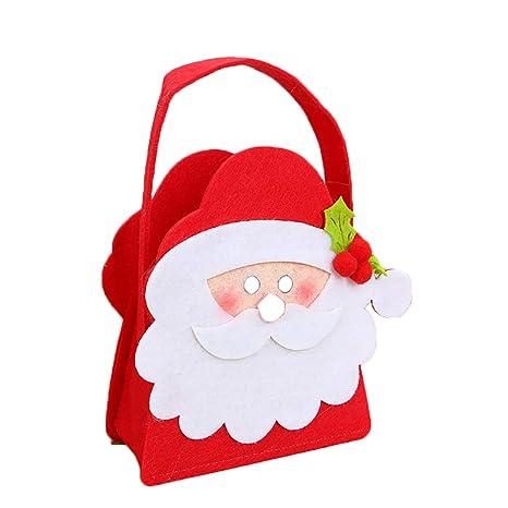 Topdo 1 Pieza Bolsa de Regalo Navidad con Cajas de Tela no ...