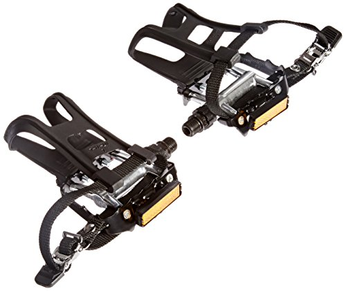 Diamondback 9/16-Inch Spindle Ultralight Alloy Pedals with Clips and Straps, Black