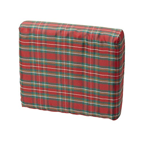 DMI Convoluted Foam Chair Pad Seat and Wheelchair Cushion with Plaid Cover, 16 x 18 x 4 inches (Wheelchair Seat Covers)