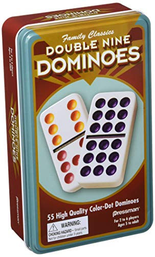 - Pressman Dominoes Double 9 in tin