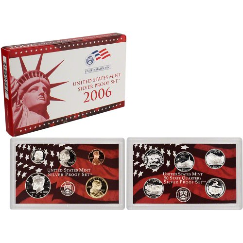 2006 S US Mint Silver Proof (2006 Silver Plated)