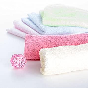 Theshine Baby Washcloths baby towel Wipes Bamboo Fiber Baby Bathing Towel Childrens Bamboo Washcloth Baby Scarf 6 Pack