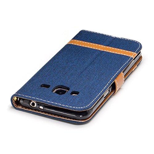 J3 Pelle Samsung Premium Flip Portafoglio J3 Supporto Meeter In Per Cover 2016 Con Caso 201 Scuro Custodia Galaxy Blu 6XAn8xnFq