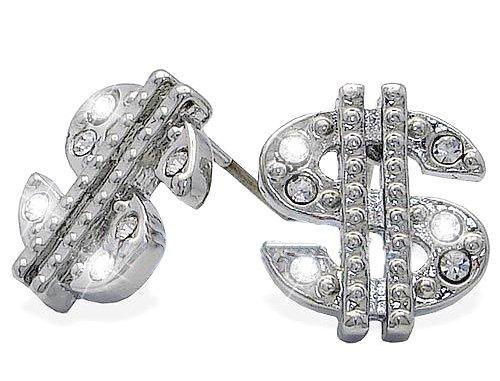 Cash Money Millionaires Dollar Sign Earrings