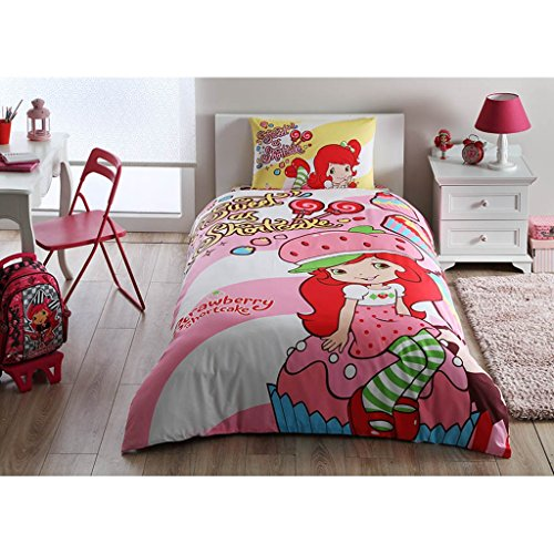 Disney Strawberry Shortcake Girl's Duvet/Quilt Cover Set Single / Twin Size Kids ()