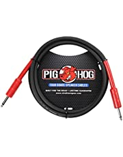 Pig Hog PHSC5 Cable de altavoz de alto rendimiento, calibre 14, 9,2 mm, 1/4 pulgadas, 1,5 m, color negro