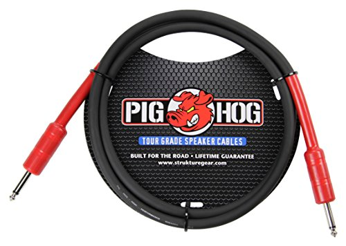 "Pig Hog PHSC5 High Performance 14 Gauge 9.2mm 1/4"" Speaker Cable, 5 Feet"