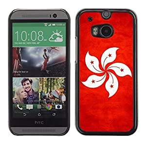 LJF phone case Shell-Star ( National Flag Series-Hong Kong ) Snap On Hard Protective Case For All New HTC One (M8)