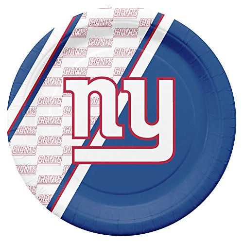 NFL New York Giants Disposable Paper Plates, Pack of 20 ()