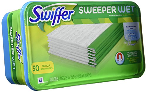 Swiffer Sweeper Wet Refills Open Window, Fresh, 30 (Gamble Swiffer Sweeper)