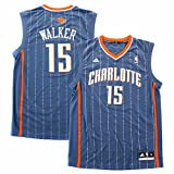 Kemba Walker Charlotte Bobcats NBA Adidas Men's Grey Official Replica Jersey (M)