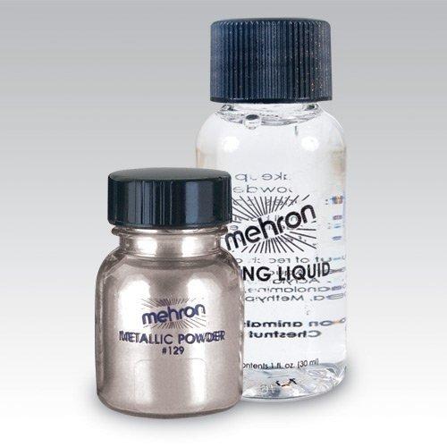 Poudre métallique avec liquide de mélange 1 oz - Argent