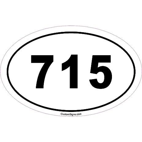 Amazoncom Area Code Bumper Sticker For Car Automotive - 715 area code