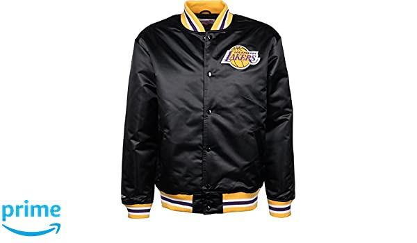 Mitchell & Ness LA Lakers Satin Chaqueta universitaria black: Amazon.es: Deportes y aire libre