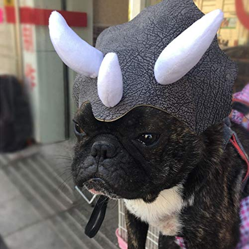 D-ModernPet Dog Costume - Pet Hat Costume Halloween Holiday Fancy Cosplay Cap Dog Cat Bulldog Head Cover -