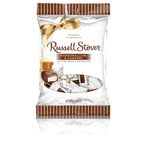 (Russell Stover Milk Chocolate Marshmallow & Caramel Peg Bag, 2.95)