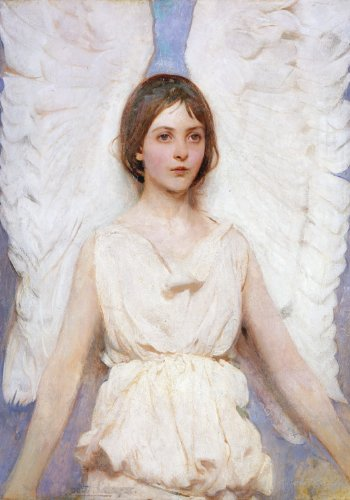 Abbott Thayer Angel Boxed Holiday Half Notecards (Christmas Half Note Box (Angels Note Card)