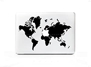 HQ World Map Sticker Decal For MacBook Pro