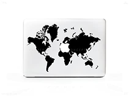 hq world map sticker decal for macbook pro 13 15 17 universal sticker