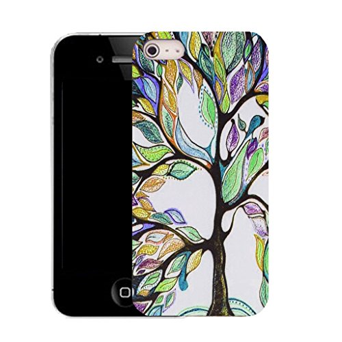 Mobile Case Mate IPhone 5S clip on Silicone Coque couverture case cover Pare-chocs + STYLET - multi bonsai pattern (SILICON)