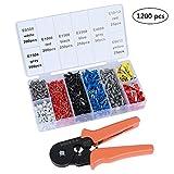 ValueHall 1200pcs Wire Ferrules Crimper Plier Set, Professional Laborsaving Crimper Plier for 0.25-6mm² Self-adjustable Ratchet Wire V7001-1